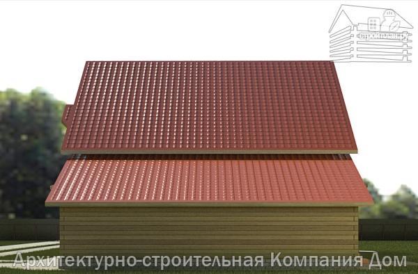 Фото 5: проект деревянный дом 10х13 с террасой, балконом и гаражом
