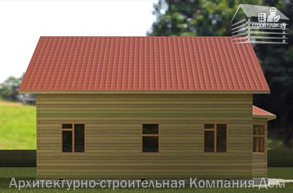 Фото 6: проект дом из бруса 10х10,5 с крыльцом, террасой и балконом