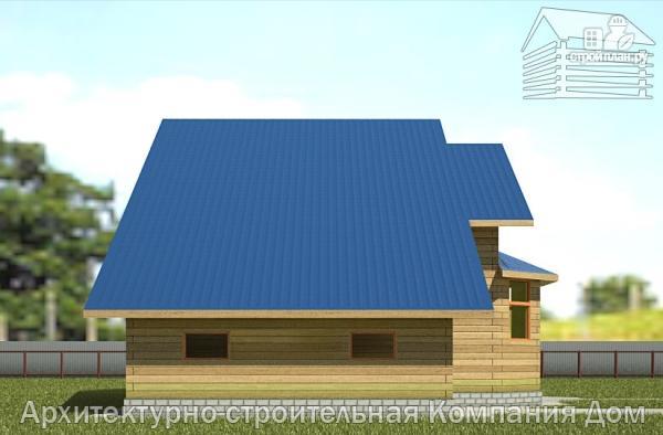 Фото 7: проект дом из бруса 8х14 с террасой, балконом и гаражом