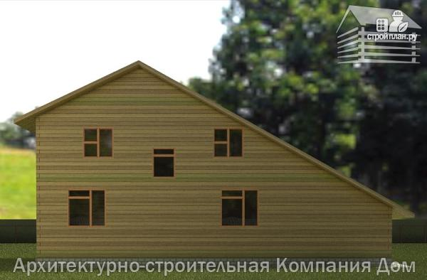 Фото 6: проект дом из бруса 8х14 с террасой, балконом и гаражом