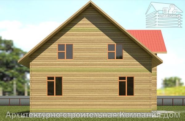 Фото 7: проект дом из бруса с мансардой и гаражом