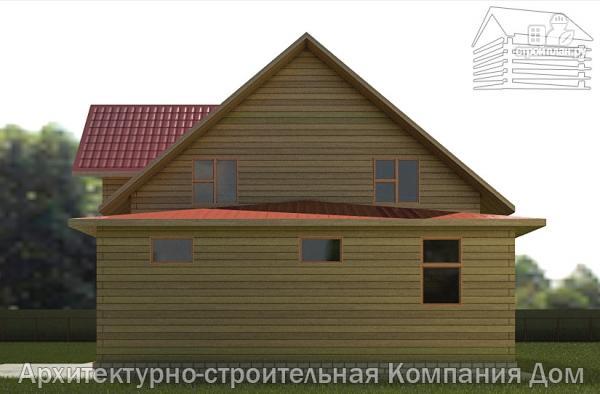 Фото 5: проект дом из бруса с мансардой и гаражом