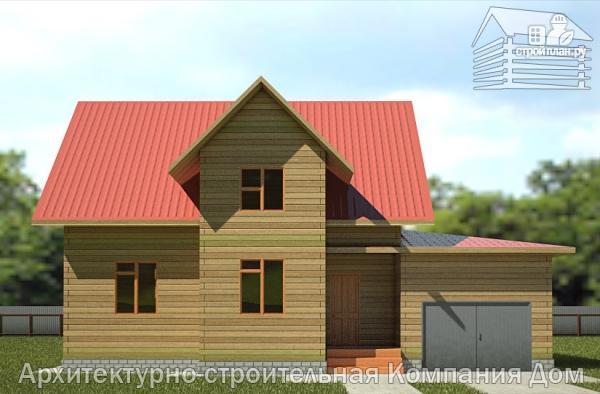 Фото 4: проект дом из бруса с мансардой и гаражом