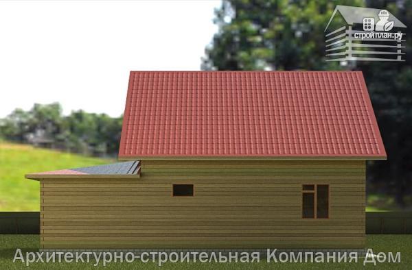 Фото 6: проект дом из бруса с мансардой и гаражом