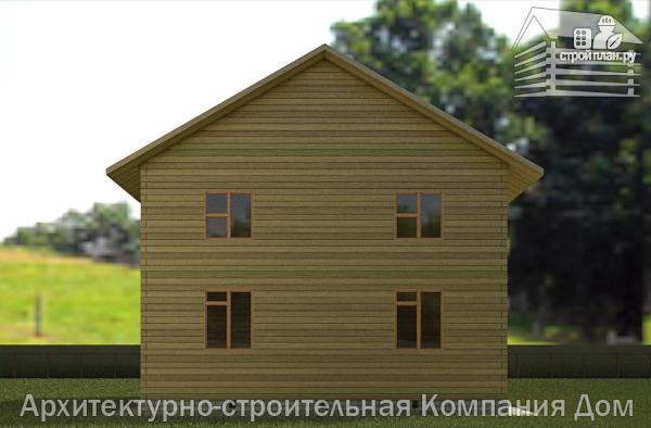 Фото 6: проект дом из бруса 9х9 с балконом и террасой