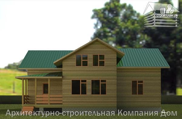 Фото 6: проект деревянный дом с террасой, балконом и вторым светом