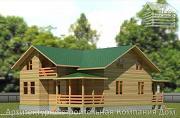 Фото: деревянный дом с террасой, балконом и вторым светом