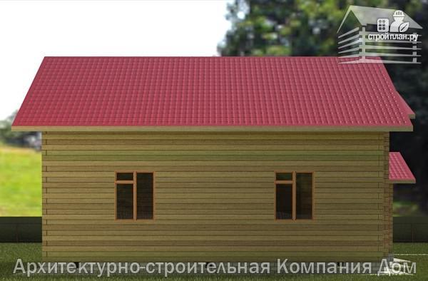 Фото 6: проект деревянный дом 12х12 с балконом, террасой и двухсветной гостиной