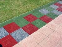 Плитка тротуарная из резиновой крошки