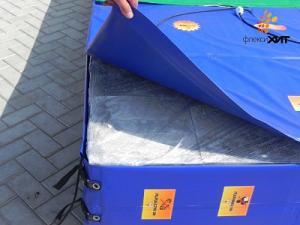 Сушилка для тротуарной плитки из термоматов