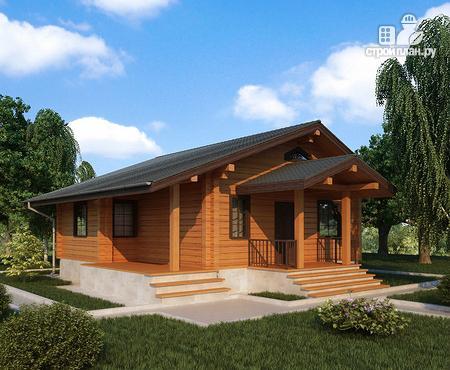 Фото: проект одноэтажный дом из клееного бруса