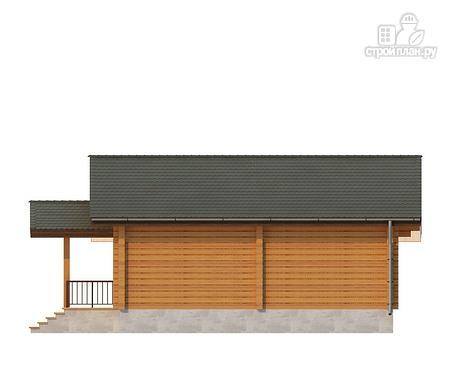 Фото 4: проект одноэтажный дом из клееного бруса