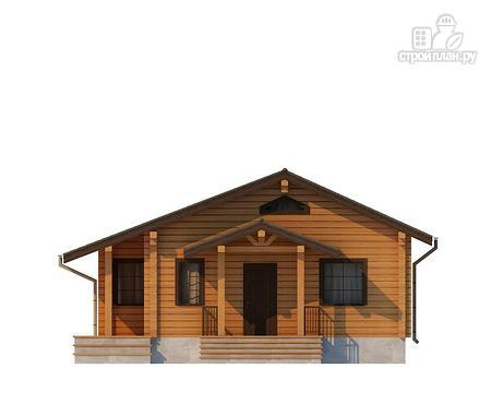 Фото 3: проект одноэтажный дом из клееного бруса
