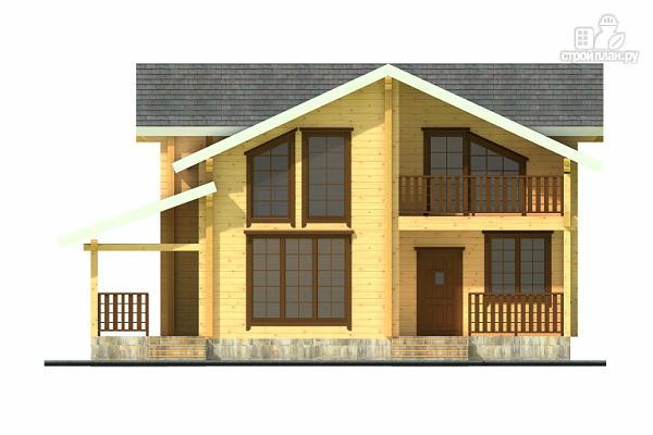 Фото 4: проект двухэтажный дом из клееного бруса с террасой