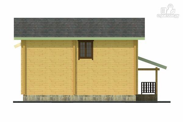 Фото 5: проект двухэтажный дом из клееного бруса с террасой