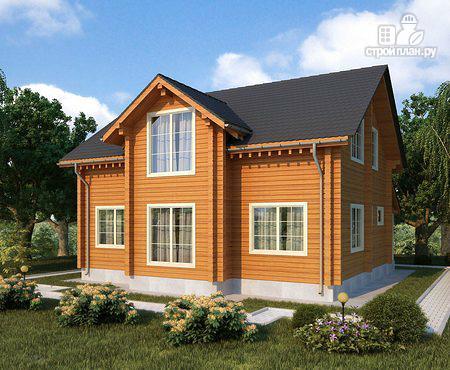 Фото: проект двухэтажный дом из клееного бруса
