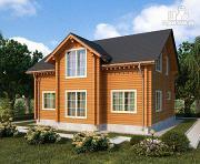Фото: двухэтажный дом из клееного бруса