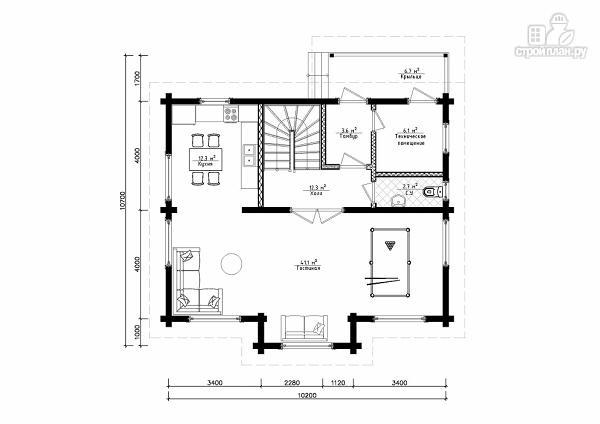 Фото 6: проект двухэтажный дом из клееного бруса
