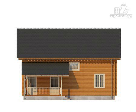 Фото 2: проект двухэтажный дом из клееного бруса