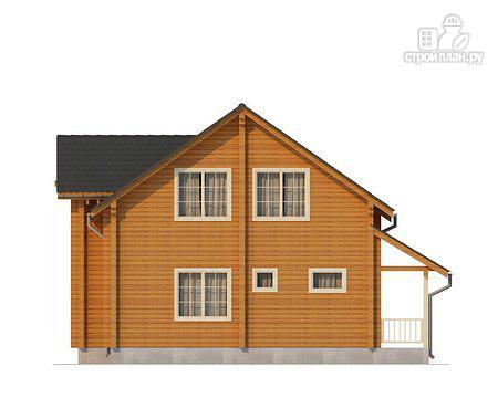 Фото 3: проект двухэтажный дом из клееного бруса