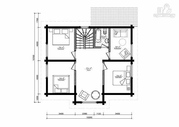 Фото 7: проект двухэтажный дом из клееного бруса