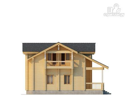 Фото 3: проект двухэтажный дом из клееного бруса с просторной террасой