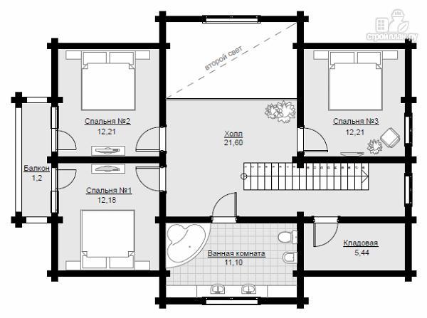 Фото 7: проект двухэтажный дом из клееного бруса с просторной террасой