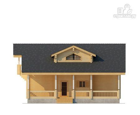 Фото 2: проект двухэтажный дом из клееного бруса с просторной террасой