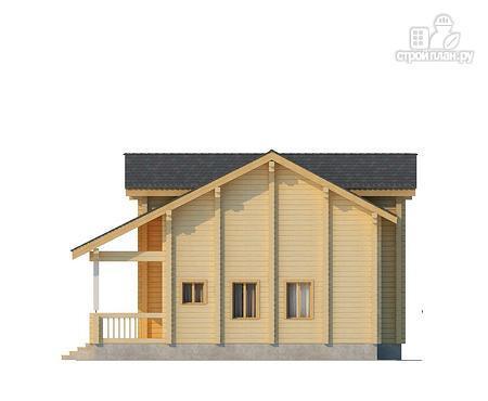Фото 5: проект двухэтажный дом из клееного бруса с просторной террасой