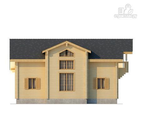 Фото 4: проект двухэтажный дом из клееного бруса с просторной террасой