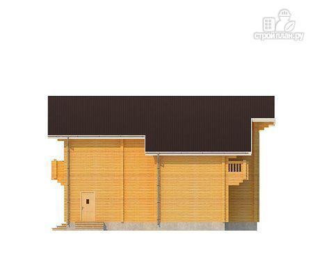 Фото 3: проект двухэтажный дом из клееного бруса с террасой