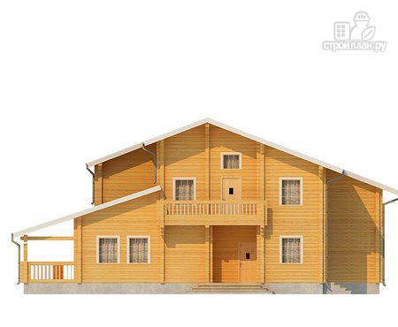 Фото 2: проект двухэтажный дом из клееного бруса с террасой