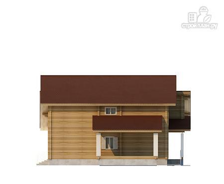 Фото 5: проект двухэтажный дом из клееного бруса с двумя террасами