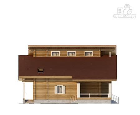 Фото 4: проект двухэтажный дом из клееного бруса с двумя террасами