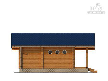 Фото 3: проект баня из клееного бруса с просторной террасой