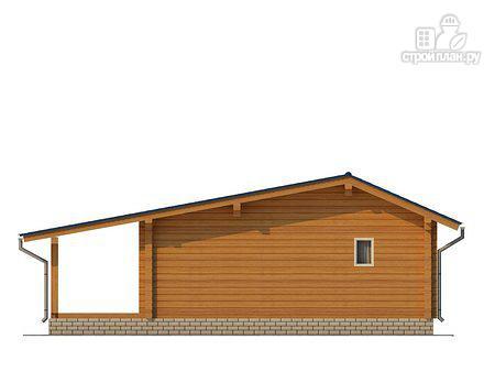 Фото 4: проект баня из клееного бруса с просторной террасой