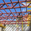Фото Монтаж металлоконструкций спортивного зала школы