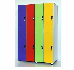 Шкафчики Sanikab для раздевалок, мебель спортивная влагостойкая для бассейнов
