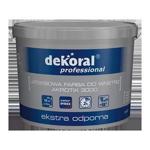 Латексная краска для стен и потолков Dekoral Professional Akrotix 3000 матовая 10 л