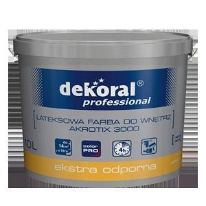 Латексная краска для стен и потолков Dekoral Professional Akrotix 3000 сатиновая 10 л