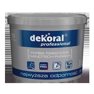 Эластичная фасадная краска Dekoral Professional Nanotech Fasada 10 л