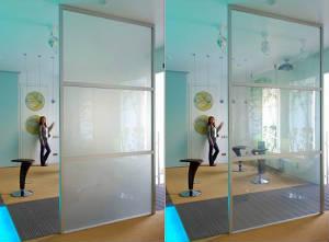 Офисные перегородки с Умным стеклом (Smart glass)
