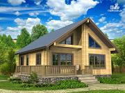 Фото: дом из профилированного бруса 10х10
