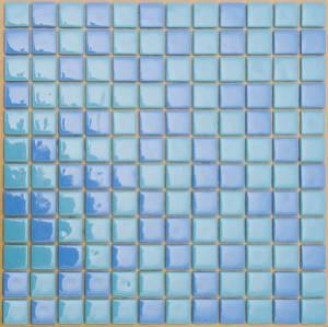Мозаика стеклянная Синяя 10% + Голубая 10% + Голубая FL-S-048