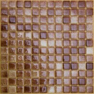 Мозаика стеклянная плитка Коричневая ST-M-013