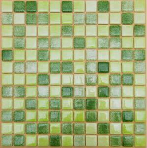 Мозаика стеклянная Зеленая - Салатная ST-S-020