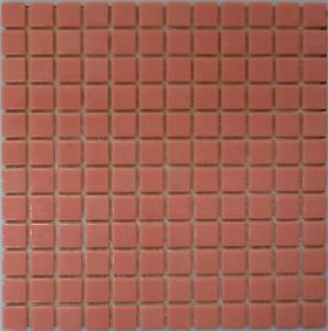 Мозаика стеклянная Розовая - Красная 10% FL-M-052
