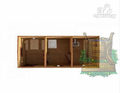 Фото 2: проект мобильная баня из бруса 6x2,3