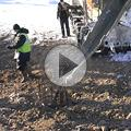 Видео Зимнее бетонирование. Противоморозная добавка для бетона Бетоноправ 6. Пример работ