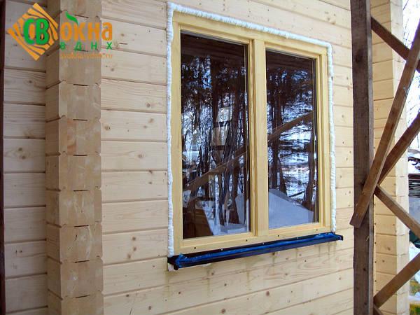 Фото Деревянное окно ОСП со стеклопакетом